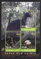 PAPUA NEW GUINEA 2018 BIRDS SHEETLET OF 3 BIRDPEX UNMOUNTED MINT, MNH