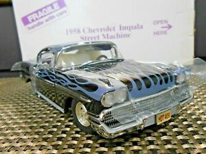 Danbury Mint 1:24 1958 Chevrolet Impala Street Machine Black W/ Purple Flames