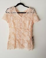 ALANNAH HILL LISTEN, DON'T BELIEVE TOP + SLIP Pink Lace SIZE 12 RRP$229