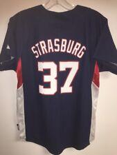 Washington Nationals Cool Base Jersey Stephen Strasburg Youth Large Ladies?