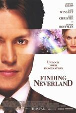 FINDING NEVERLAND MOVIE POSTER 2 Sided ORIGINAL ROLLED 27x40 JOHNNY DEPP