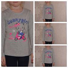 Shirt,T-Shirt,Langarmshirt,Mädchen,Grau,Gr.92,98,104,110,116,128,134,140,146,152