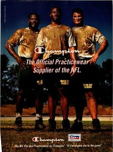 1997 VINTAGE 8X11 PRINT Ad FOR CHAMPION APPAREL NFL MUDDY GREEN BAY PACKERS