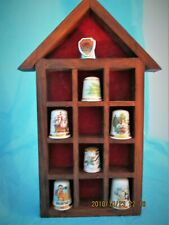 Thimble Display House and 7 Thimbles