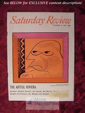 Saturday Review October 14 1961 SOMERSET MAUGHAM AL HIRSCHFELD SALVADOR DALI
