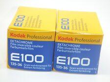 2 x KODAK E100 35mm 36 Exp CHEAP COLOUR SLIDE FILM by 1st CLASS ROYAL MAIL