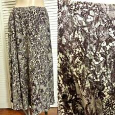 NWT ANNE KLEIN MAXI SKIRT MEDIUM BROWN/BEIGE LACE SKIRT FULLY LINED STRETCHY