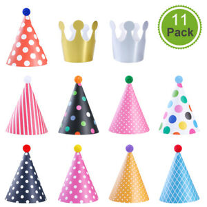 NUOLUX Paper Birthday Party Hats Cone Hat Birthday Dress Up Kids Adults Fun
