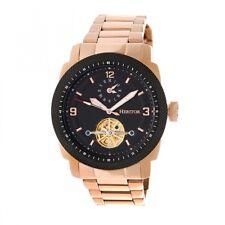 Heritor Automatic Helmsley Semi-Skeleton Bracelet Watch - Rose Gold/Black HR5004
