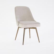 John Lewis Mid Century Swivel Office Chair - Dove Grey Velvet - RRP: £399