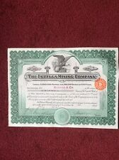 Estella Mining Comp. Dated 1911 50 SharesINVALID SHARE CERTIFICATE
