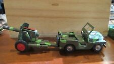 Vintage  Friction Military Jeep and Cannon from Japan
