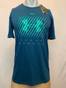 """Under Armour Men's T-Shirt Athletic Fit, Multiple Colors S-XL """"Slashed Logo"""""""