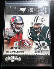 2014 Panini Contenders Round Numbers 19 Austin Seferian Jenkins Jace Amaro Card
