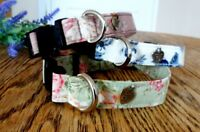 Rose & Hubble Vintage style Dog Collar. Individually Hand made
