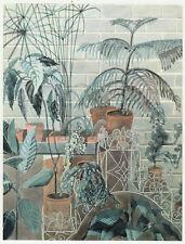 Jardiniere & botanical scene Edward Bawden print in 11 x 14 mount ready to frame