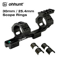 """ohhunt 1"""" 30mm 25.4mm Scope Rings Offset Cantilever Rings fit 11mm Dovetail Rail"""