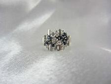 Aparter Ring aus Weißgold 585 mit Saphiren & Brillanten