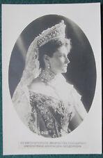 Antique Imperial Russian Photo Postcard Tsarina Alexandra Feodorovna Romanov