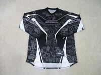 O'Neal Shirt Adult Large Black White Motocross Dirtbike Racing Biker Racer Mens