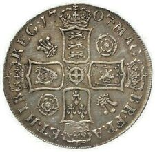 More details for 1707 vf/aef queen anne silver crown roses and plums.