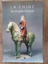 Affiche MUSEE GUIMET  LA CHINE *
