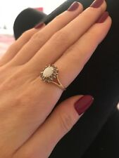 14 Carat Gold Ring Opal Cluster