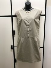 Margaret Howell XS Khaki Natural Poplin Cotton Minimalist Dress MHL I