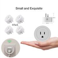 4Pcs Smart WiFi Power Socket US Plug Switch For Amazon Alexa Home App Control