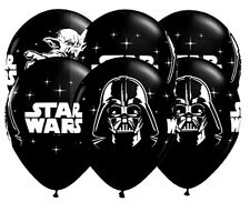 STAR WARS Clone Wars Latex Balloons (x6) Darth Vader Yoda party decoration