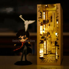 Harry Potter Diagon Alley Wooden DIY Assemble Bookend Bookshelf Model Light Gift
