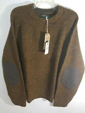 Woolrich Mens knit Rothrock Crew Sweater Sz 2XL Brown  Lambswool NEW $168
