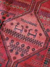 5.2 x 7.8 Antique Veg Dye Caucasian Heriz Oushak Vintage Serapi Kazak Shirvan