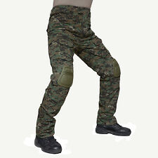 Mens Tactical Combat Police Army Pants Soldier Camouflage Trousers + Knee Pads