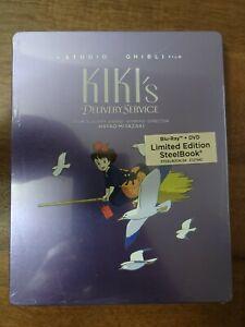 Studio Ghibli Film Kiki's Delivery Service Blu Ray + DVD Steelbook  new