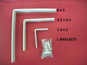 L Bracket Angle Iron Corner Metal Install Shelf Cabinet Hardware Heavy Duty ❤️❤️