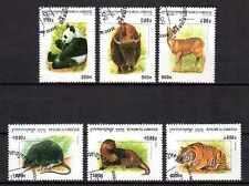 Animaux Faune sauvage Cambodge (45) complète 6 timbres oblitérés