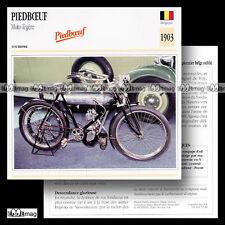 #072.18 PIEDBOEUF Motocyclette légère 1903 Fiche Moto Classic Motorcycle Card