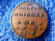 ENGLAND: VERY RARE 1746 COIN WEIGHT FOR PORTUGESE GOLD COINS ABOUT UNCIRCULATED!