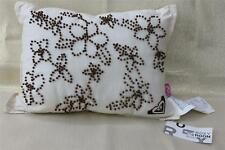"ROXY ""COCONUT FLORAL"" THROW PILLOW - CREAM/BROWN - 12x16"