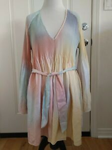 Wildfox Accordian Pastel Rainbow Top Size S