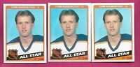 3 X 1984-85 TOPPS # 158 SABRES TOM BARRASSO GOALIE AS NRMT-MT  CARD (INV# C1949)