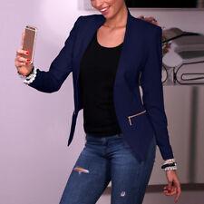 Fashion Women Casual Slim Solid Suit Blazer Coat Jacket Outwear Candy Color S-XL
