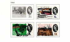 GB - 1964. COMPLETA London edifici Set di 4. USATA SCOTT #410-413.