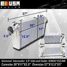 "Universal Intercooler 27""X12.5""X3"" 2.5""ID I/O For Honda Civic Accord YCZ-048"