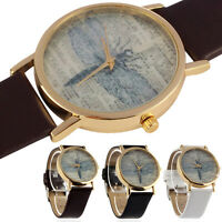 Women's Fashion Watch Dragonfly Dial Leather Dress Analog Quartz Wrist Watches