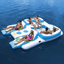 6 Person inflatable Raft Tropical Tahiti Inflatable Floating Island Party Float
