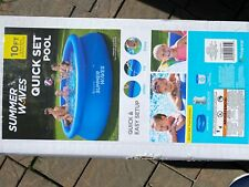 Summer Waves 10 ft X 30 in Quick Set Ring Pool With 600 Gph Filter Pump In Hand