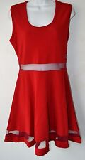Red, Sleeveless, Peek, Size XL, Dress