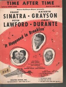 Time After Time It Happened In Brooklyn Frank Sinatra KathrynGrayson Sheet Music